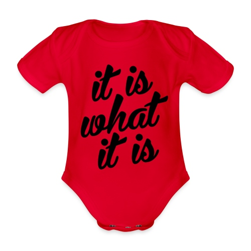 It is what it is - Baby bio-rompertje met korte mouwen