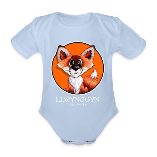llwynogyn - a little red fox (white) - Vauvan lyhythihainen luomu-body