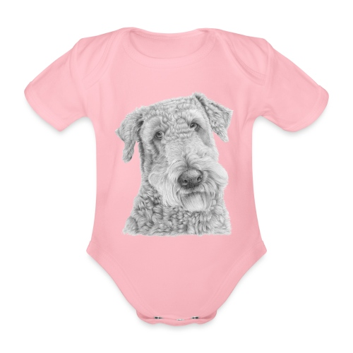 airedale terrier - Kortærmet babybody, økologisk bomuld