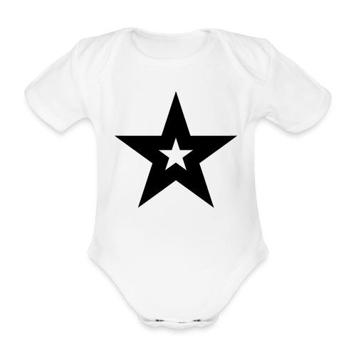 Cool black magic star - Baby bio-rompertje met korte mouwen