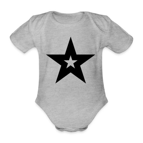 Cool black magic star - Baby bio-rompertje met korte mouwen