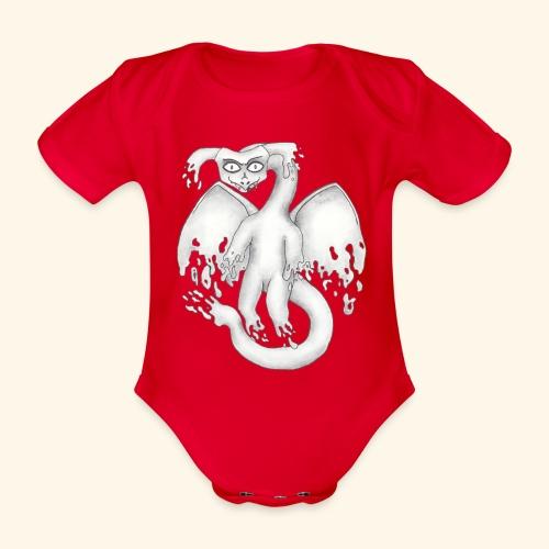 Spökdrake - Ekologisk kortärmad babybody