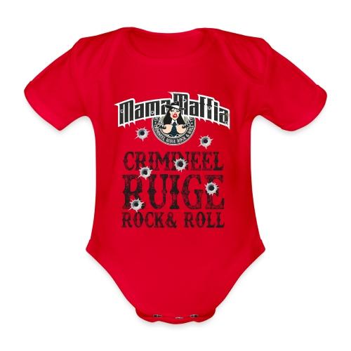 Crimineel Ruige Rock & & Roll Shirt - Baby bio-rompertje met korte mouwen