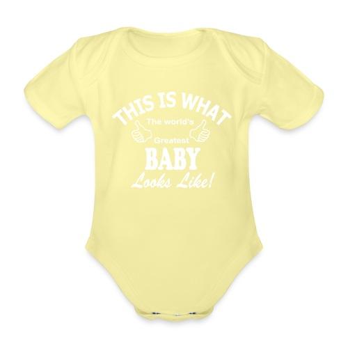 baby world's greatest - Baby bio-rompertje met korte mouwen