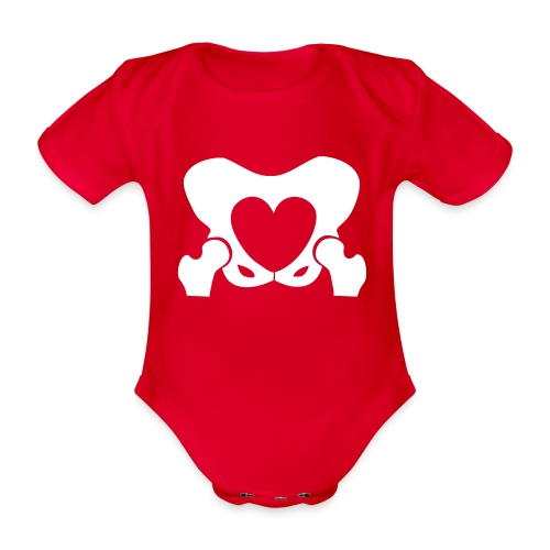 Love Your Hips Logo - Organic Short-sleeved Baby Bodysuit