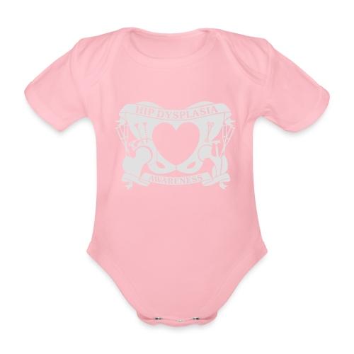 Hip Dysplasia Awareness - Organic Short-sleeved Baby Bodysuit