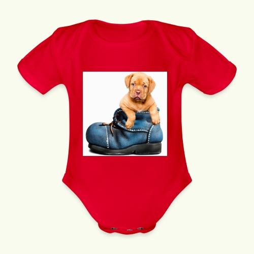 Cucciolo - Body ecologico per neonato a manica corta