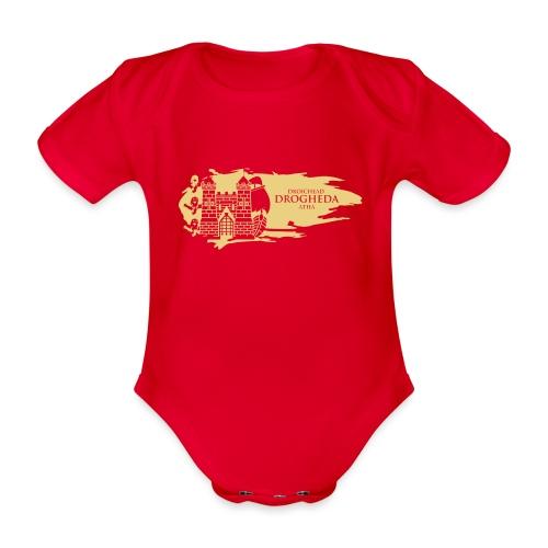 Drogheda Laurences Gate Gold - Organic Short-sleeved Baby Bodysuit
