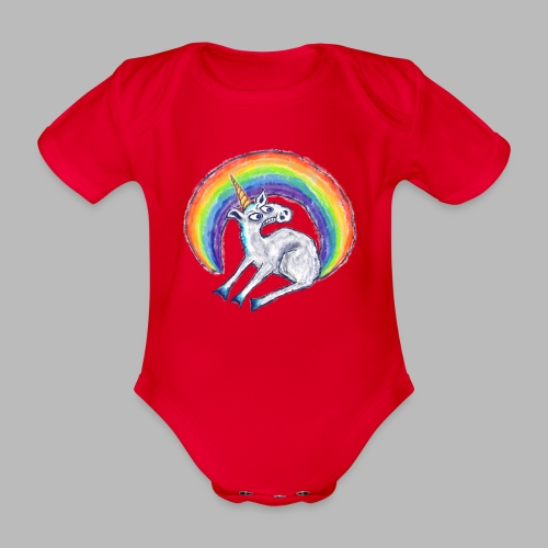 Reluctant Rainbow - Organic Short-sleeved Baby Bodysuit
