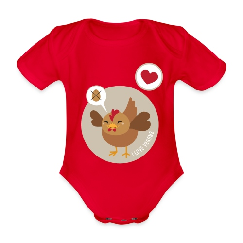 I love Vegans - Organic Short-sleeved Baby Bodysuit