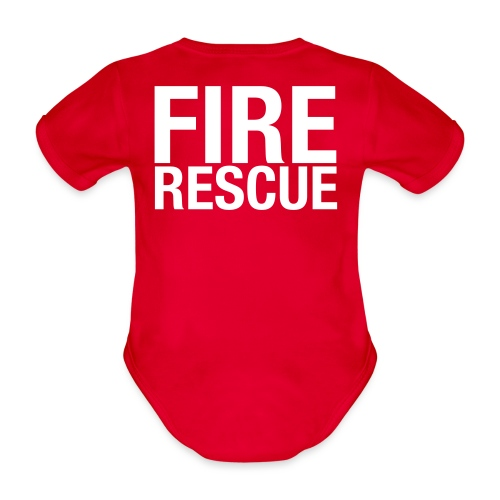 Fire and Rescue - Organic Short-sleeved Baby Bodysuit