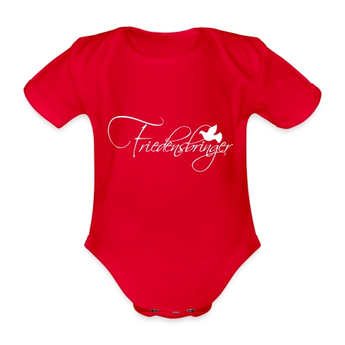 FriedensbringerWhite - Baby Bio-Kurzarm-Body