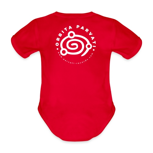 Orbita Parvati white logo - Organic Short-sleeved Baby Bodysuit