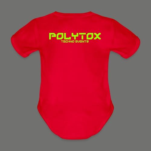 POLYTOX Techno Events Merch - Baby Bio-Kurzarm-Body