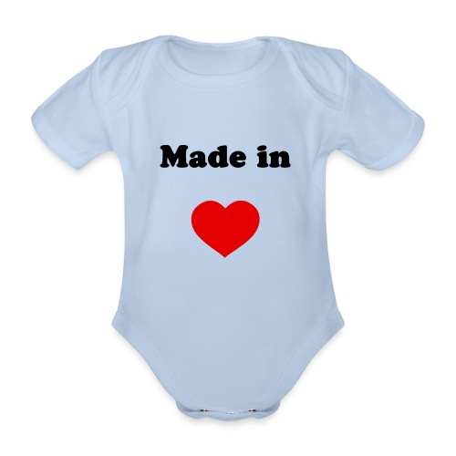 Made in rouge - Body Bébé bio manches courtes