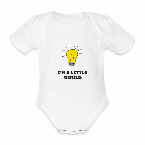 Je suis un petit génie - Body bébé bio manches courtes