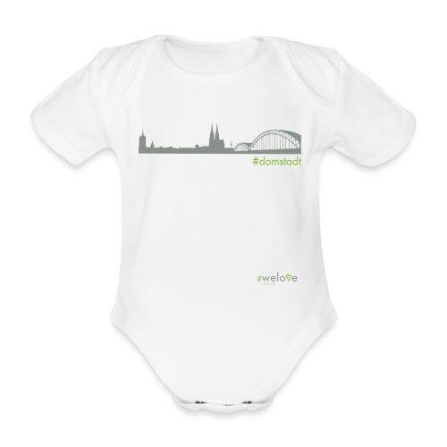 #welove Köln - #domstadt - Baby Bio-Kurzarm-Body