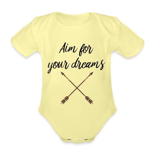 Aim for your Dreams - Vauvan lyhythihainen luomu-body