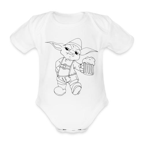 Yoda Lederhose - Baby Bio-Kurzarm-Body