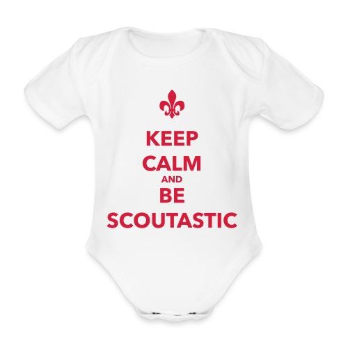 Keep calm and be scoutastic - Farbe frei wählbar - Baby Bio-Kurzarm-Body