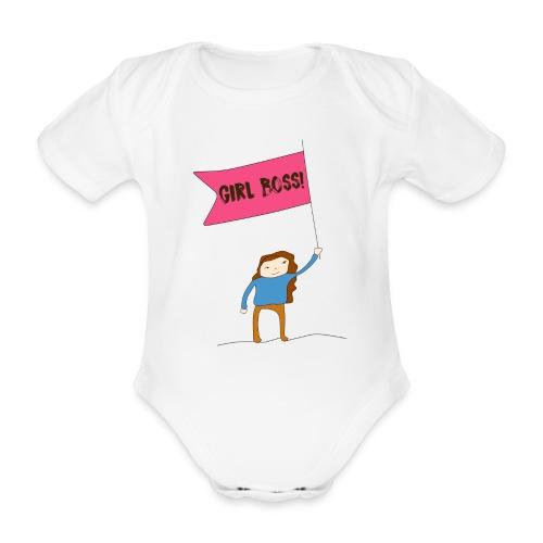 Gurl boss - Body orgánico de maga corta para bebé