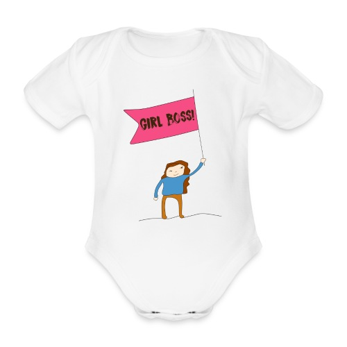 Gurl boss - Body orgánico de manga corta para bebé