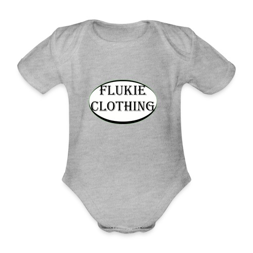 White Logo - Organic Short-sleeved Baby Bodysuit