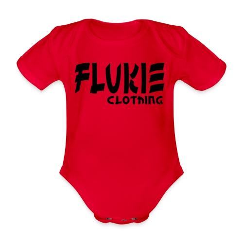 Flukie Clothing Japan Sharp Style - Organic Short-sleeved Baby Bodysuit