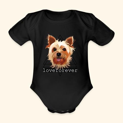 YORKIE LOVE FOREVER - Body orgánico de maga corta para bebé