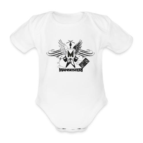 Mansesteri logo - Vauvan lyhythihainen luomu-body