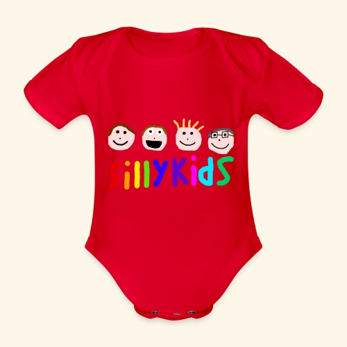 Sillykids Logo - Organic Short-sleeved Baby Bodysuit