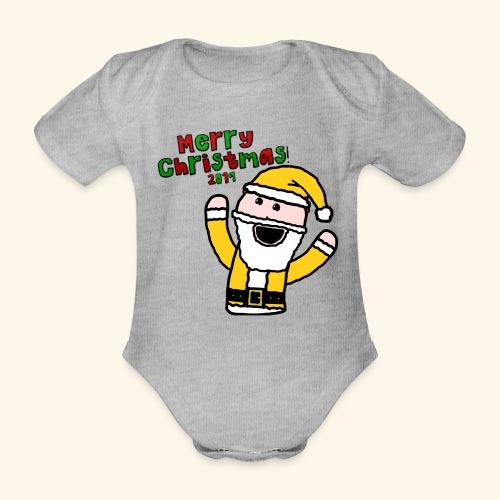 Santa Kid (Christmas 2019) - Organic Short-sleeved Baby Bodysuit