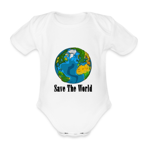 Save The World-Planet - Ekologisk kortärmad babybody