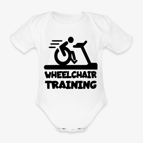 Rolstoel training 001 - Baby bio-rompertje met korte mouwen
