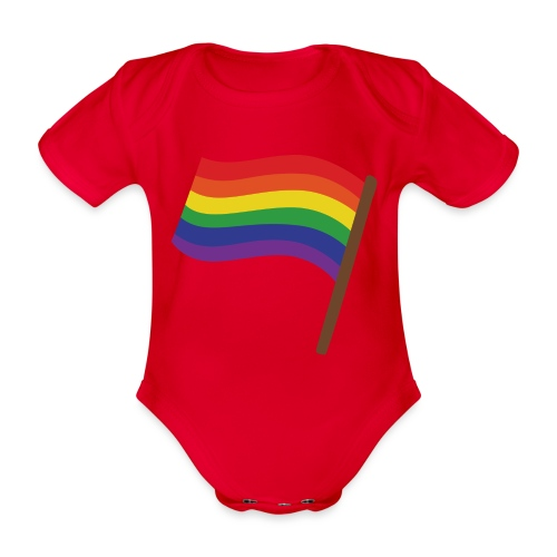 Regenbogenfahne | Geschenk Idee | LGBT - Baby Bio-Kurzarm-Body
