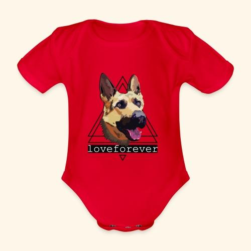 SHEPHERD LOVE FOREVER - Body orgánico de maga corta para bebé