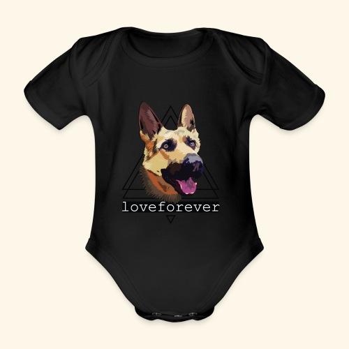 SHEPHERD LOVE FOREVER - Body orgánico de manga corta para bebé