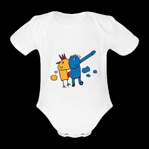 Gallifante - Body orgánico de maga corta para bebé