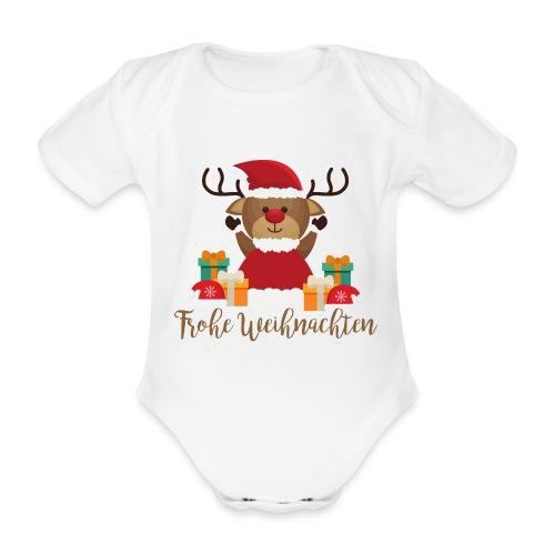 Frohe Weihnachten - Baby Bio-Kurzarm-Body