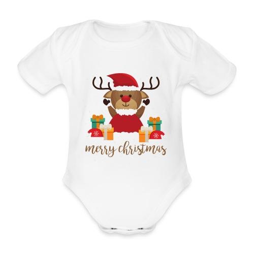 Merry Christmas - Baby Bio-Kurzarm-Body