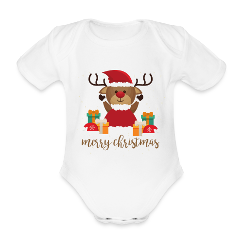 Merry Christmas - Baby Bio-Kurzarm-Body
