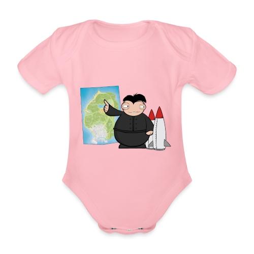 Happy Dictator. - Body orgánico de maga corta para bebé