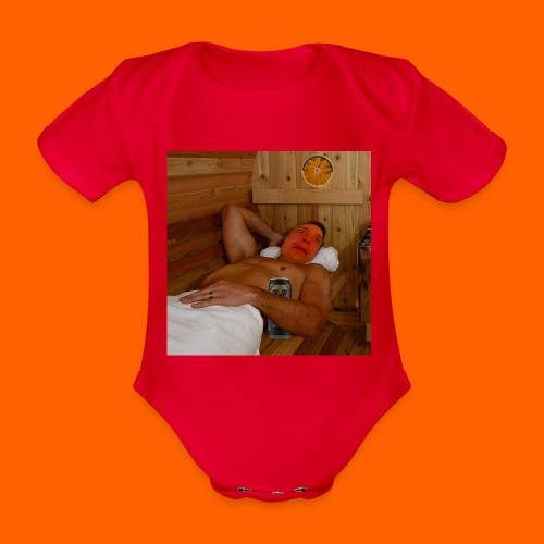 OrangeFullTopi - Vauvan lyhythihainen luomu-body