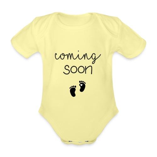 Coming Soon - Schwangerschaft verkünden mit Body - Baby Bio-Kurzarm-Body