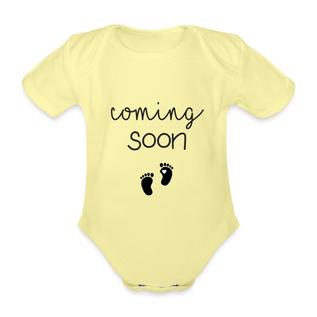 Coming Soon - Schwangerschaft verkünden mit Body