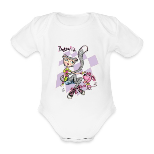 Pantherilly Sneaker - Body ecologico per neonato a manica corta