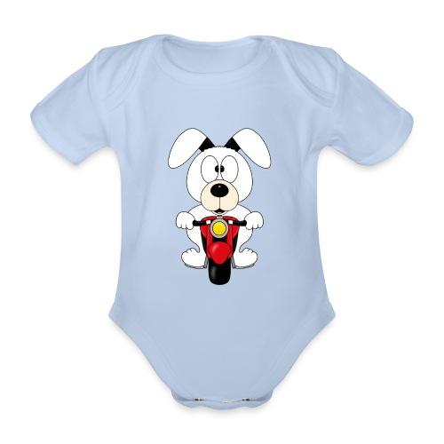 BIKER - MOTORRAD - HUND - DOG - MOTORSPORT - TIER - Baby Bio-Kurzarm-Body