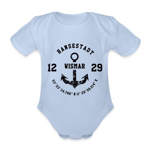 Hansestadt Wismar - Baby Bio-Kurzarm-Body