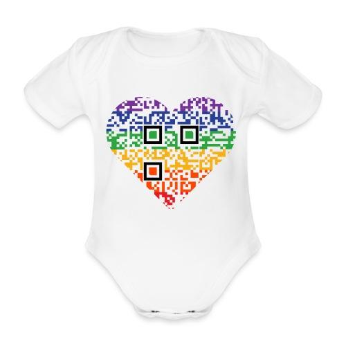 Love is Love | QR-Code | Pride - Baby Bio-Kurzarm-Body
