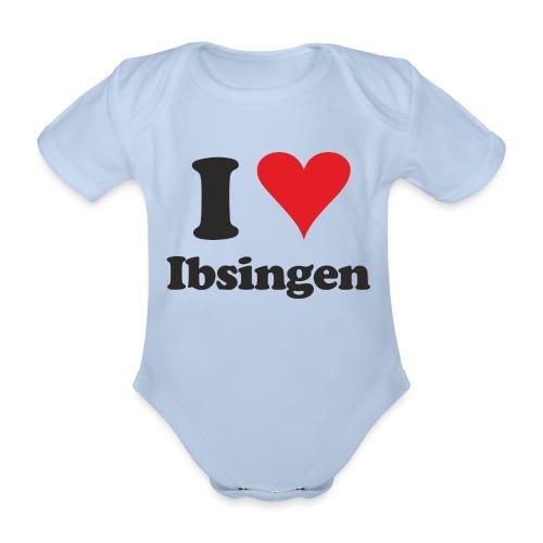 I Love Ibsingen - Baby Bio-Kurzarm-Body